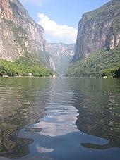 Mexico Cañón del Sumidero, Río Grijalva, en Chiapas.