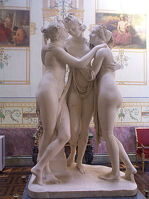 The Three Graces (sculpture) - The Three Graces, Canova's first version, now in the Hermitage Museum