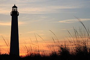 Cape May Lighthouse - Image: Cape May Lighthouse from the beach 1