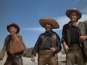 Pedro Armendáriz - Armendáriz with Harry Carey Jr. and John Wayne in 3 Godfathers in 1949.