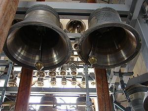 Campanology - Carillon - showing the large number of tuned bells normally used