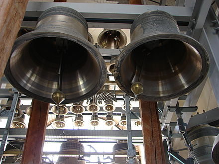 Carillon bells, Peter and Paul Cathedral, St. Petersburg Carillon of PeterAndPaulCathedral 1.JPG