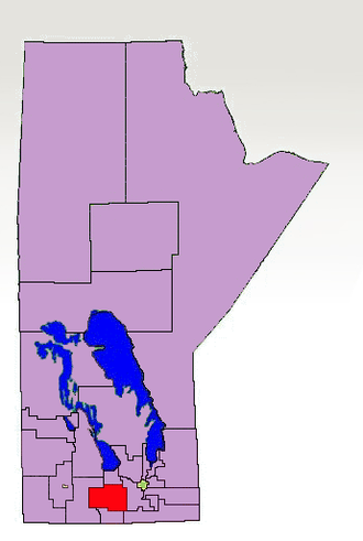 Carman (electoral district) - The boundaries of Carman in 2007 highlighted in red