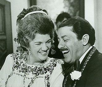 Vito Scotti - Scotti and Carmen Zapata in Love, American Style in 1973