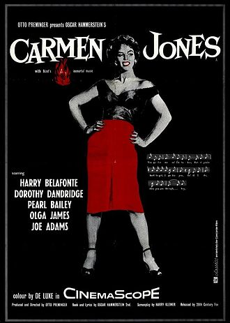 Carmen Jones (film) - Theatrical release poster by Saul Bass