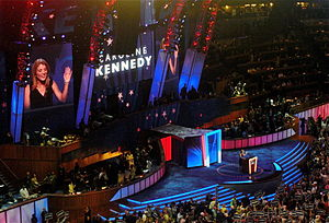 Caroline Kennedy - Kennedy spoke during the first night of the 2008 Democratic National Convention in Denver, Colorado, on August 25, 2008, introducing her uncle, Senator Ted Kennedy.