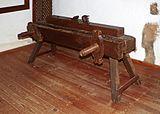 Carpenter's bench - Museo Agrícola el Patio - Tiagua.JPG