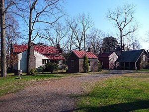 Carter House (Franklin, Tennessee) - Rear view of Carter House (left) and outbuildings