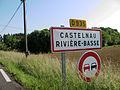 Castelnau-Rivière-Basse Panneau D 935.JPG