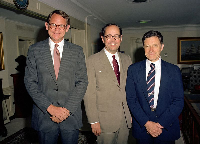 Castle, Thornburgh, and Weinberger at the Pentagon, July 6, 1982.JPEG