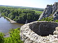 Castle Devin - look towards rivers.JPG