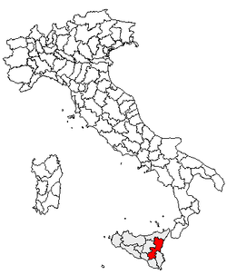 Location of Province of Catania
