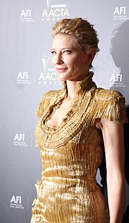 Cate Blanchett on screen and stage Australian actress
