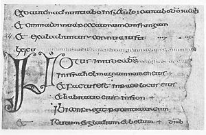 Insular illumination - Image: Cathach Columba Text 3