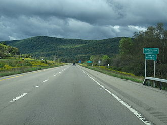 Cattaraugus County, New York - Entering Cattaraugus County on Interstate 86