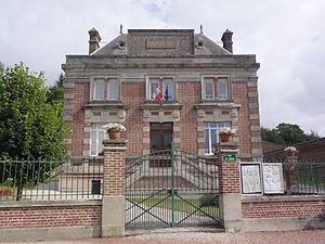 Caulaincourt, Aisne - The town hall of Caulaincourt