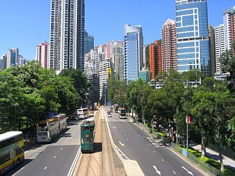 Causeway Road - Causeway Road looking toward Tin Hau in 2006