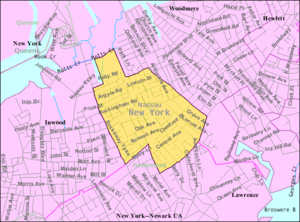 Cedarhurst, New York - U.S. Census Map