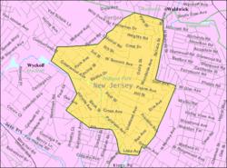Census Bureau map of Midland Park, New Jersey