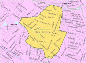 Midland Park, New Jersey - Image: Census Bureau map of Midland Park, New Jersey