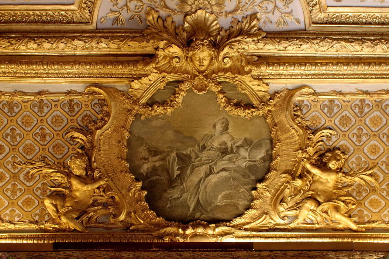File ch teau de versailles chambre de la reine voussure vertu royale fran ois - Photo chateau de versailles ...