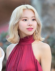 Chaeyoung at Gaon Awards red carpet on January 23, 2019.jpg