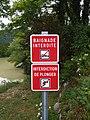 Chancia - Panneaux baignade interdite interdiction de plonger (juil 2018).jpg