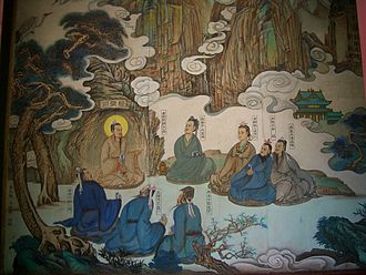 Ouija - Wang Chongyang, founder of the Quanzhen School, depicted in Changchun Temple, Wuhan