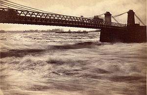 Chaudière Bridge - The second version, a suspension bridge (1870)