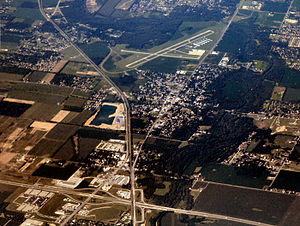 Chesterfield, Indiana - Aerial view of Chesterfield facing southwest