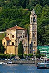 Chiesa di San Lorenzo, Tremezzo, from Lake Como.jpg