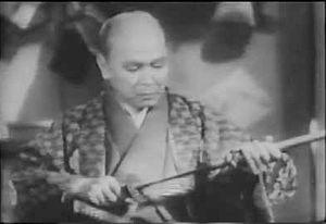 Ryosuke Kagawa - Takada in the 1937 film Kettō Takadanobaba (Duel at Takadan-No-Baba)