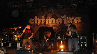 Chimaira - Chimaira performing at the Marquee Theatre in Tempe, Arizona in 2009