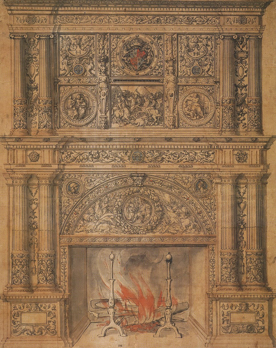 Chimney-piece design, by Hans Holbein the Younger