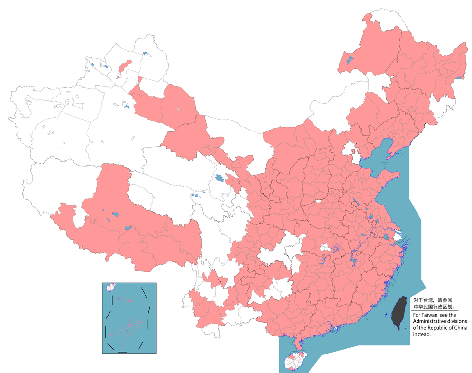 China Prefectural-level cities