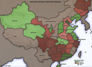 History of the People's Republic of China (1989–2002) - Economic reforms have triggered internal migrations within China. Click on the image for more information.