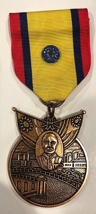 China War Memorial Medal - Front