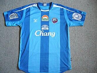 Chonburi F.C. - Chonburi FC Home Kit in 2008 with old logo