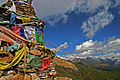 Chorten and prayer flags (Druk Path Trek, Bhutan).jpg
