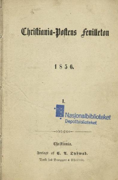 File:Christiania-Postens FeuilletonI.djvu