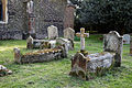Church of St Mary and St Christopher, Panfield - graveyard northwest graves.jpg