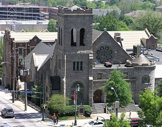 Religion in Atlanta - Image: Church on North Ave and Peachtree St