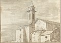 Church with a Tiled Roof and Tower (Smaller Italian Sketchbook, leaf 36 recto) MET DP269444.jpg