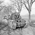 Churchill tanks of 6th Guards Tank Brigade carrying paratroopers of the 17th US Airborne Division, Germany, 29 March 1945. BU2737.jpg