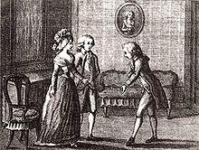 Luigi Ponelato: Il Cicisbeo, Illustration zu Goldonis Werken Bd. 13, Venedig 1790 (Quelle: Wikimedia)