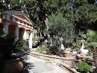 Cimitero acattolico di Capri - View from the entrance
