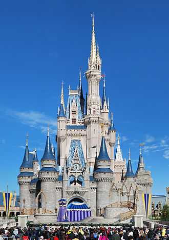 Amusement park - Walt Disney World's Magic Kingdom in Florida is the most visited theme park in the world, and Cinderella Castle, the park's icon, is one of the most photographed structures in the United States