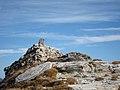 Cippus on summit - Punta d'Orogna (2447 m) - Valle Devero - Baceno VB, Piemonte, Italy - 2019-10-27.jpg