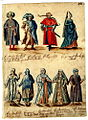 Circle of Melchior Lorck (Flensburg circa 1527-1594 Copenhagen) Studies of Men and Women in Arab, Medieval and other Costumes.jpg