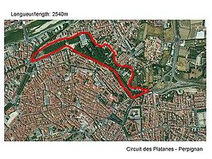 Roussillon Grand Prix - Image: Circuit des platanes Perpignan